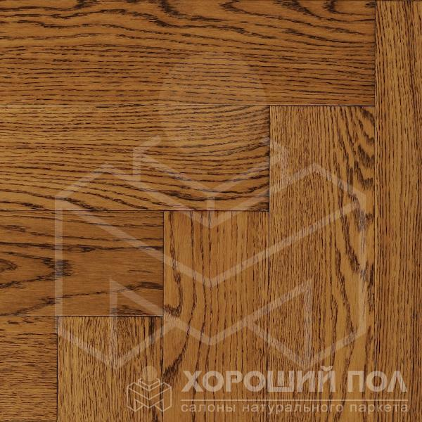 Паркет елка COSWICK Английская елка Дуб Орех Ренессанс Лак 3-х слойный T&G (шип-паз) Селект энд Бэттер 1168-1104
