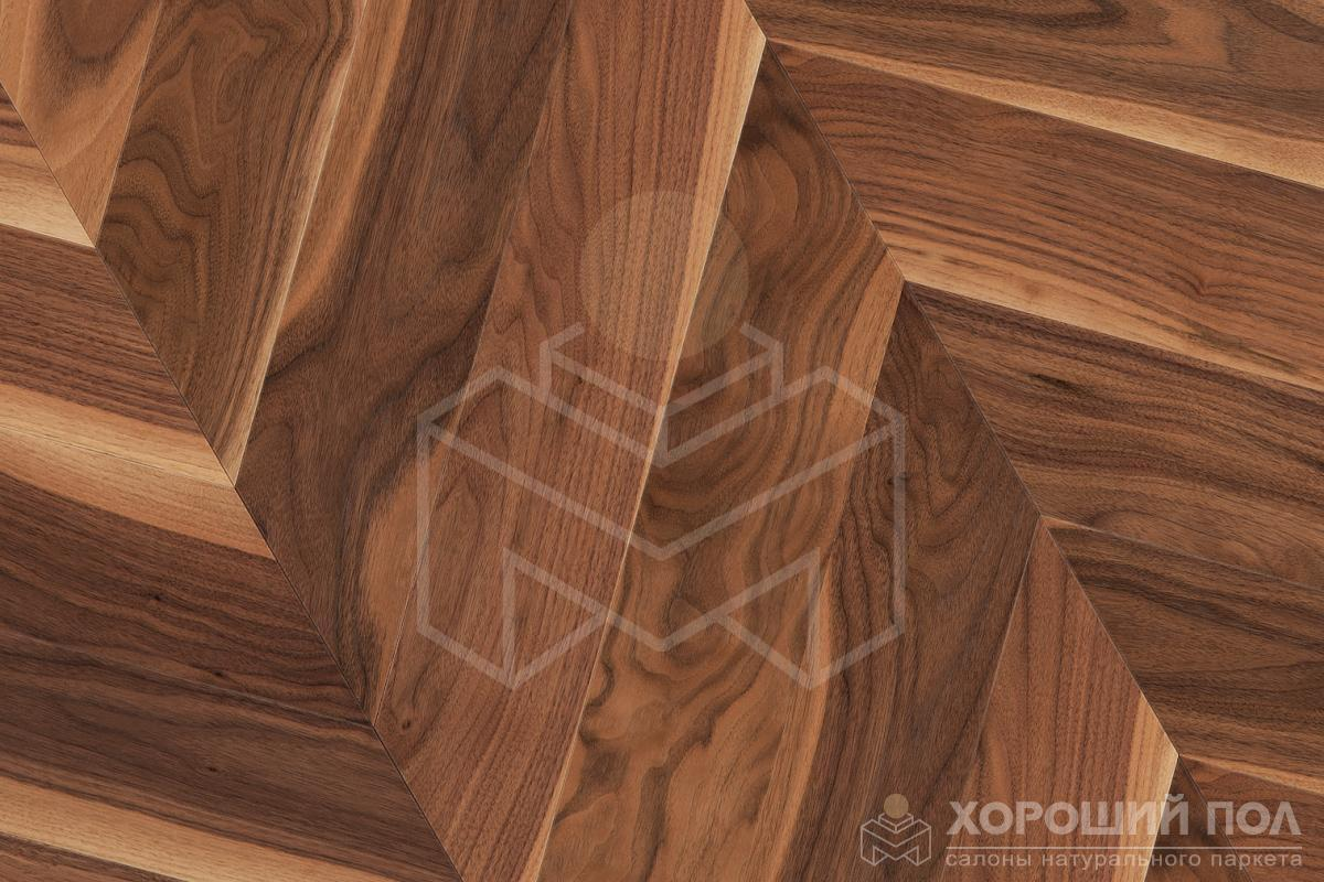 Паркет елка COSWICK Французская елка Орех Американский Натуральный Французская елка Масло шелковое 3-х слойный T&G (шип-паз) Традишинал 1369-3201
