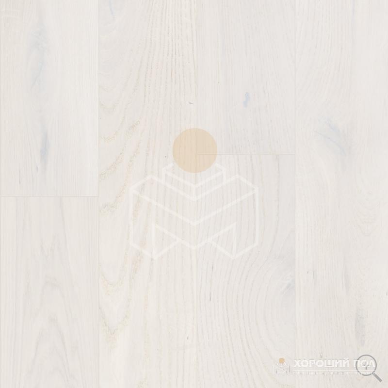 Инженерная доска COSWICK Дуб Кристально белый Вековые традиции Масло шелковое ультраматовое 3-х слойный T&G (шип-паз) Черектер 1163-7588