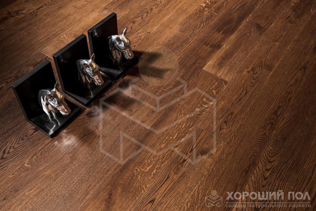 Инженерная доска COSWICK Дуб Молочный шоколад Кантри Масло шелковое 3-х слойный T&G (шип-паз) 1 Коммон 1167-3217