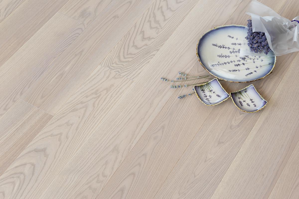 Паркетная доска COSWICK Ясень Лавандовый Классическая Масло шелковое ультраматовое 3-х слойный CosLoc Селект энд Бэттер 1253-1580