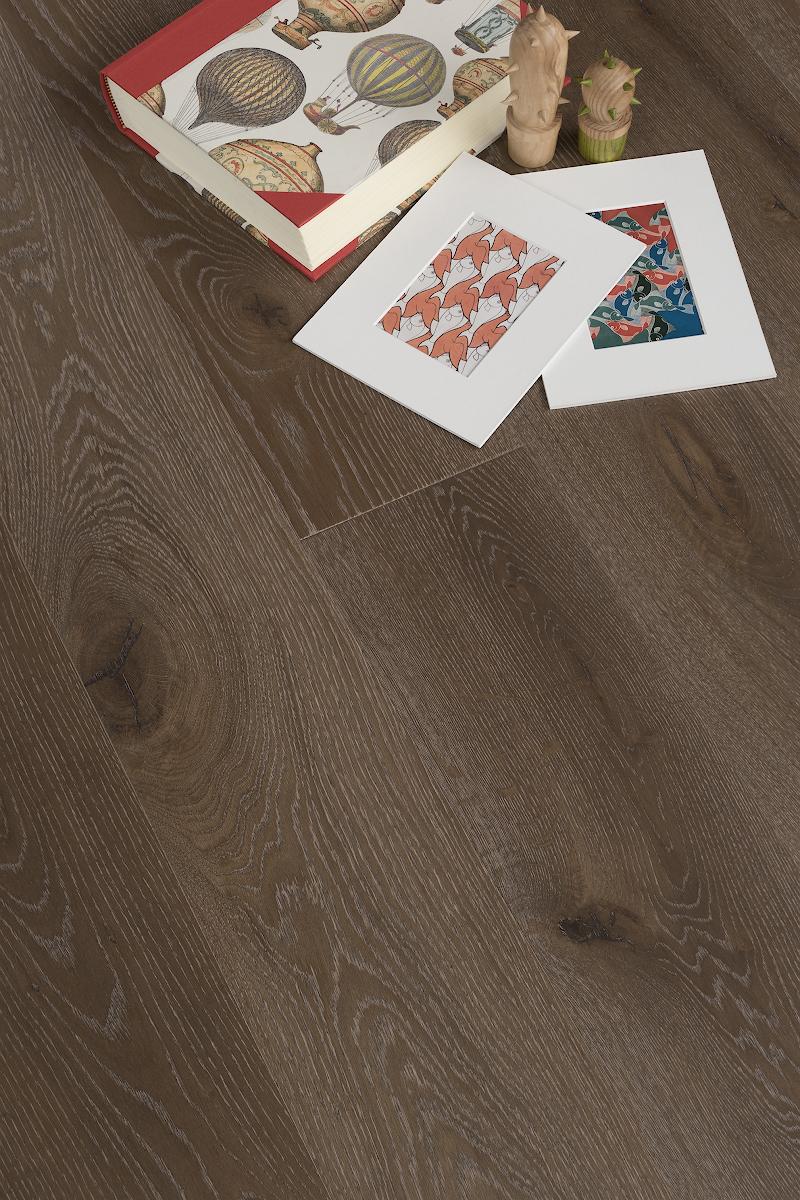 Инженерная доска COSWICK Дуб Дымчатый топаз Вековые традиции  Масло шелковое ультраматовое 3-х слойный T&G (шип-паз) Таверн 1154-4505