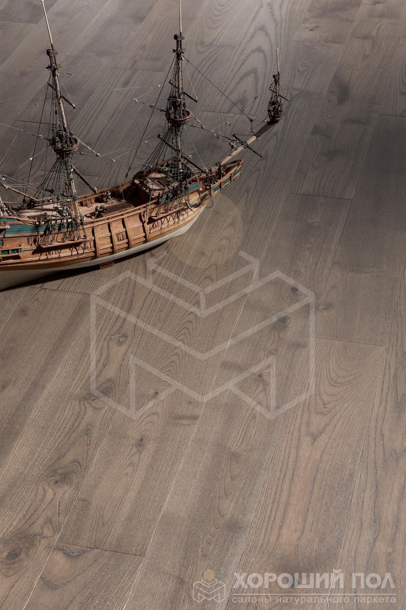 Инженерная доска COSWICK Ясень Французская Ривьера Бражированная Масло шелковое 3-х слойный T&G (шип-паз) 1 Коммон 1267-3257