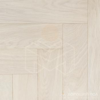 Паркет елка COSWICK Английская елка Дуб Белый иней Ренессанс Масло шелковое 3-х слойный T&G (шип-паз) Селект энд Бэттер 1168-1258