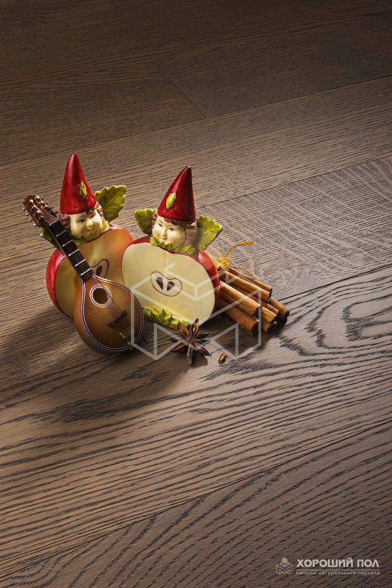 Паркетная доска COSWICK Дуб Корица Бражированная Масло шелковое ультраматовое 3-х слойный CosLoc Селект энд Бэттер 1153-1565